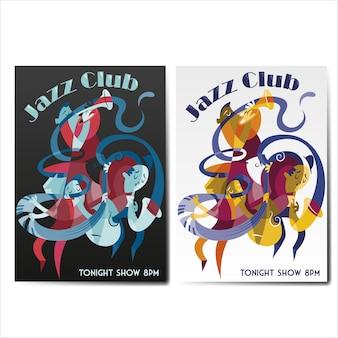 Coleção de cartazes de jazz