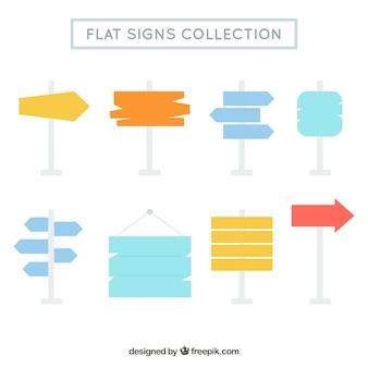 Coleção de cartazes em design plano