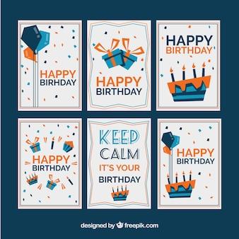 Coleção de cartões de aniversário