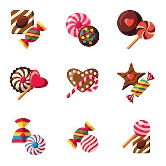 Coleção de chocolate e doces