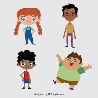 Coleção de crianças bonitas