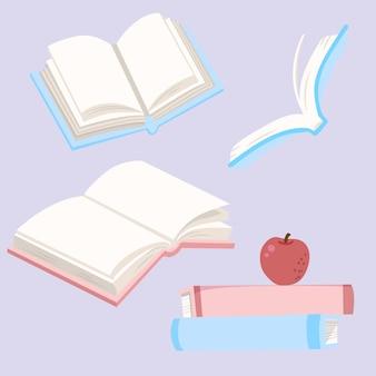 Coleção de desenhos de livros
