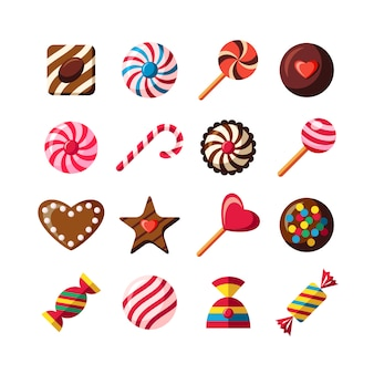 Coleção de design Candy