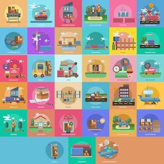 Coleção de design Cityscape