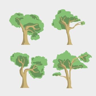 Coleção de design de árvores
