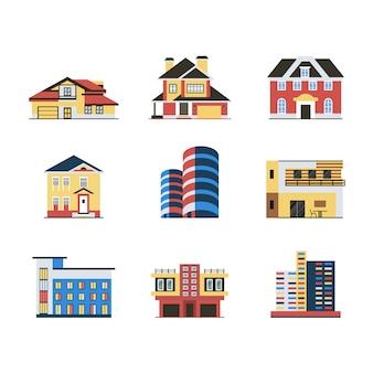 Coleção de design de construção