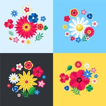 Coleção de design floral