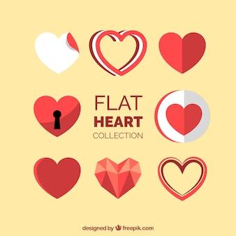 Coleção de designs de coração