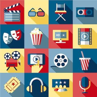 Coleção de elementos de cinema