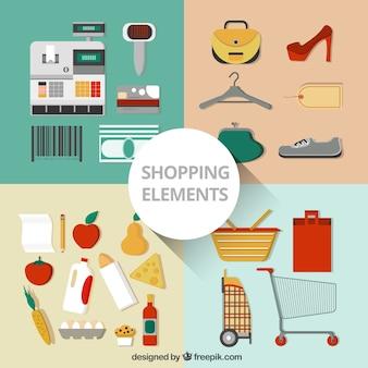 Coleção de elementos de compras