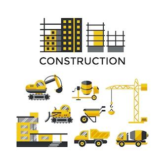 Coleção de elementos de construção