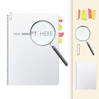 Coleção de elementos de notebook