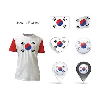 Coleção de elementos design da Coreia do Sul