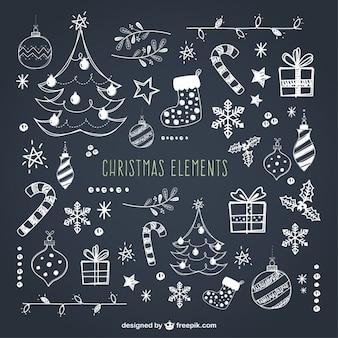 Coleção de elementos do Natal