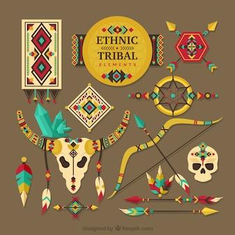 Coleção de elementos tribais