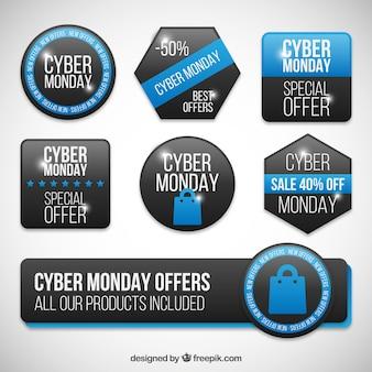 Coleção de emblemas Cyber Monday