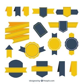 Coleção de emblemas e de fitas