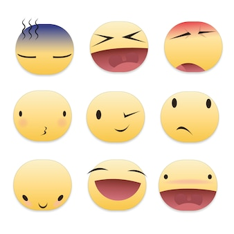 Coleção de emojis colorido
