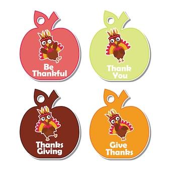 Coleção de etiquetas de Ação de Graças