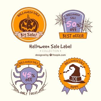 Coleção de etiquetas de Halloween