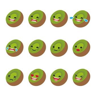 Coleção de expressões faciais Kiwi