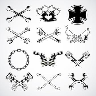 Coleção de ferramentas de moto