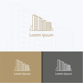Coleção de fundo do logotipo de construção