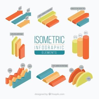 Coleção de gráfico isométrico