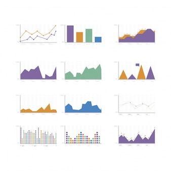 Coleção de gráficos multicoloridos