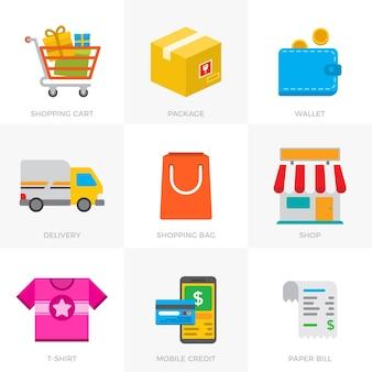 Coleção de ícones de comércio eletrônico