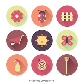 Coleção de ícones de jardinagem