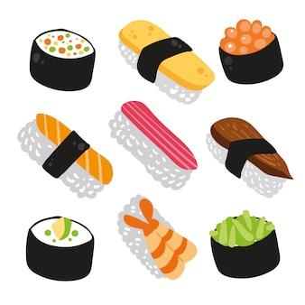 Coleção de ícones de sushi