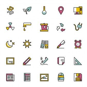 Coleção de ícones diversos
