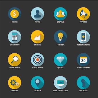 Coleção de ícones para celular