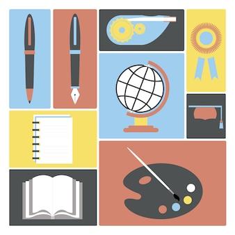 Coleção de ilustrações acadêmicas