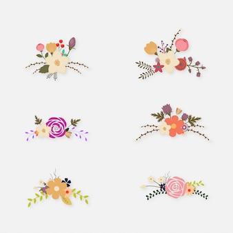 Coleção de ilustrações de flores