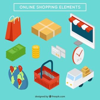 Coleção de itens de compra on-line