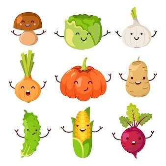 Coleção de legumes bonitos