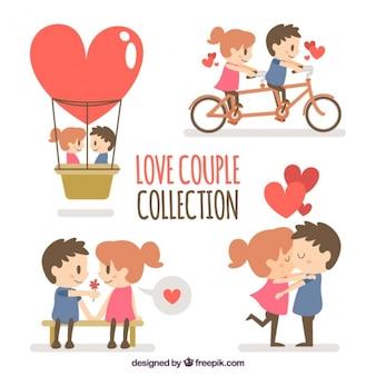 Coleção de lindo casal