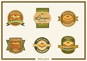 Coleção de logo de lasanha