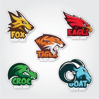 Coleção de logos animais