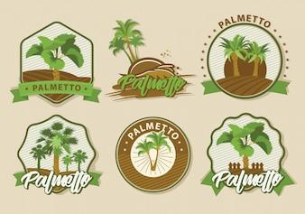 Coleção de logos de palmeiras