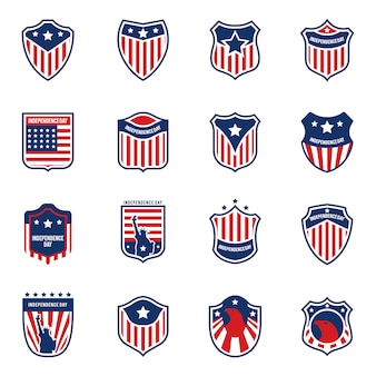 Coleção de logotipo da bandeira americana