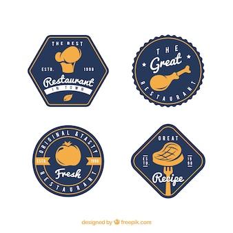 Coleção de logotipo de alimentos