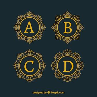 Coleção de logotipo de letra maiúscula