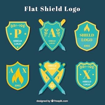 Coleção de logotipo do escudo