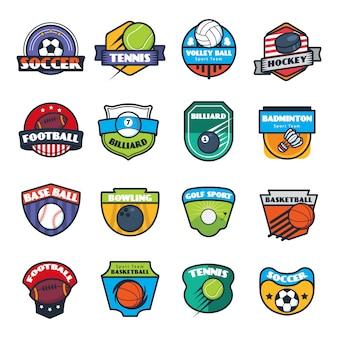 Coleção de logotipo esportivo