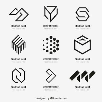 Coleção de logotipo geométrico