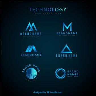 Coleção de logotipo tecnológico