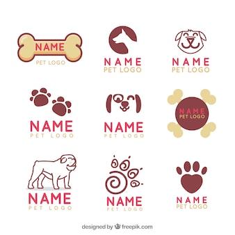 Coleção de logotipo veterinário